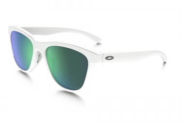 lunettes femme oakley moonlighter blanc vert iridium polarise ref oo9320 06