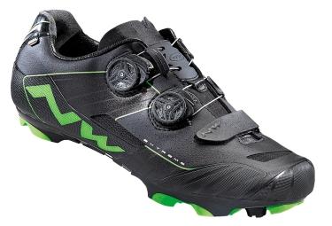 paire de chaussures vtt northwave extreme xcm noir vert
