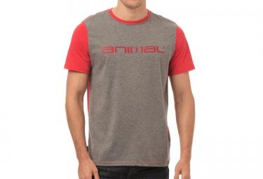 t shirt animal base gris rouge