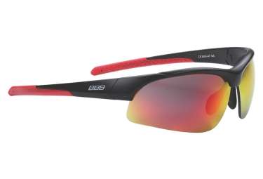 lunettes de cyclisme bbb imprress noir rouge