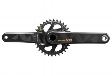 pedalier sram xx1 eagle avec plateau direct mount 32 dents bb30 non inclus or