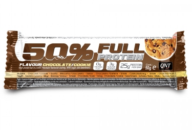 qnt barre proteinee 50 full protein chocolat cookies 50gr