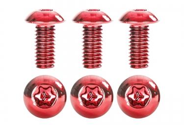 kit de 6 vis de disque neatt inox m5x10mm rouge