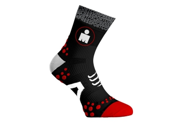 paire de chaussettes compressport pro racing socks v2 1 run ironman noir