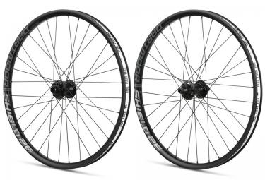 paire de roues vtt dartmoor shield 26 axe 20mm 10x135mm noir