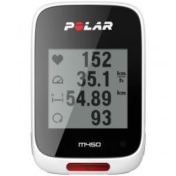 polar m450 hr compteur gps avec ceinture cardiaque blanc