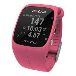 polar montre m400 gps hr avec ceinture cardiaque rose