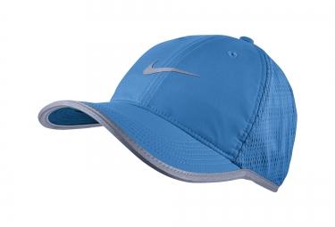 casquette de running nike featherlight bleu