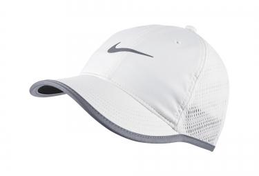 casquette de running nike featherlight blanc