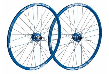 paire de roues spank spike race 28 bead bite 26 av 20x110mm ar 12x135mm bleu