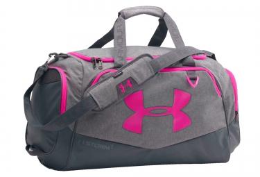 sac de sport under armour storm undeniable ii 60 l gris rose
