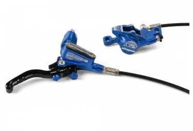 frein arriere hope tech 3 x2 durite standard bleu sans disque ni adaptateur