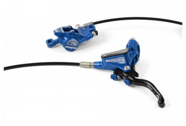 frein avant hope tech 3 x2 durite standard bleu sans disque ni adaptateur