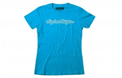 t shirt femme troy lee designs signature bleu