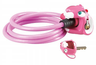 antivol crazy safety lapin rose