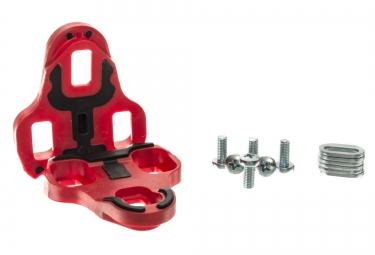 neatt paire de cales pour look keo 9 grip rouge