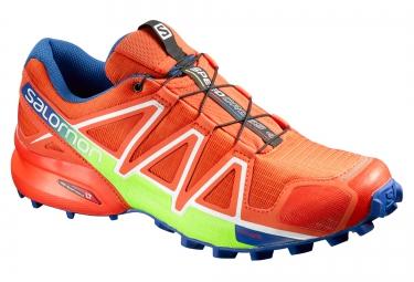salomon speedcross 4 orange bleu