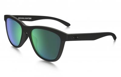 lunettes femme oakley moonlighter noir mat vert iridium polarise ref oo9320 12