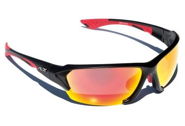 paire de lunettes azr action noir rouge rouge
