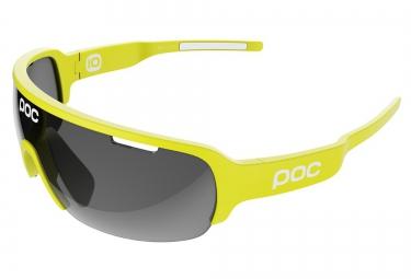 poc lunettes do half blade edition limitee cannondale drapac jaune noir