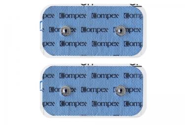 compex 2 electrodes easysnap performance 50x100mm 2 snaps