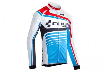 veste thermique cube teamline blanc bleu