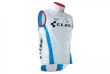 veste coupe vent deperlant cube teamline blanc bleu