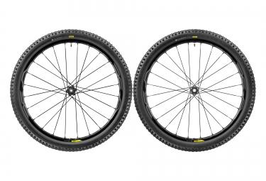 paire de roues vtt mavic xa elite 27 5 noir axes boost 15x110mm av 148x12mm ar shima