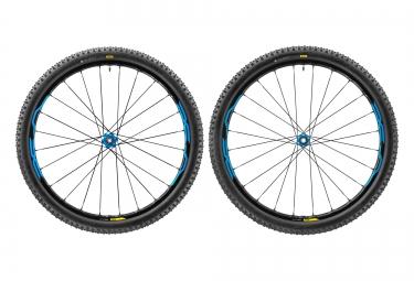 paire de roues vtt mavic xa elite 27 5 bleu axe 15mm 9mm av 142x12mm 135x9mm ar shim