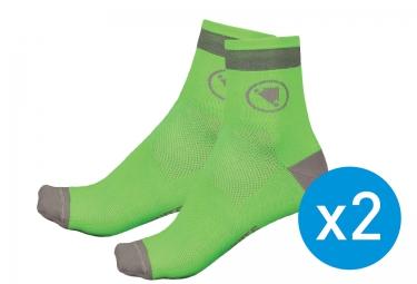 endura pack de 2 paires de chaussettes luminite vert