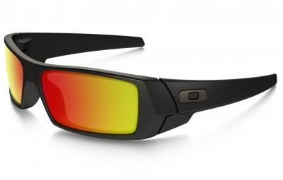 lunettes oakley gascan noir mat rouge iridium ref 26 246