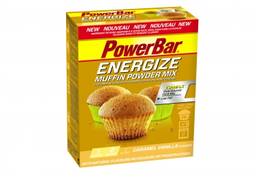 powerbar gateau energize muffin 400g cramel vanille
