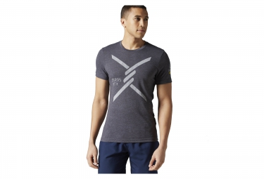 maillot reebok obstacle terrain racing gris