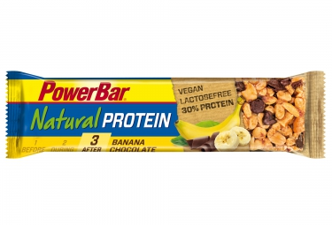 powerbar barre natural protein 40gr chocolat banane