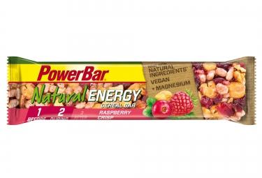 powerbar barre natural energy cereal 40gr framboise