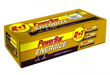 powerbar 3 barres energize c2max 55gr cookies cream