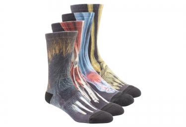 chaussettes montantes 4 chaussettes reebok crossfit noir multi couleur