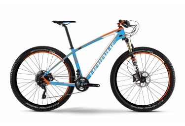 haibike 2016 velo complet 29 greed 9 50 shimano xt 10v bleu orange blanc