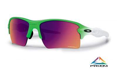lunettes oakley prizm road flak 2 0 xl edition olympique blanc vert ref oo9188 43