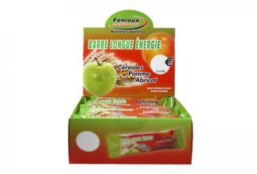 fenioux barres de cereales pomme abricot 20 barres