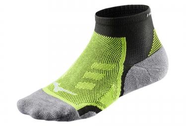 paire de chaussettes mizuno drylite trail noir vert