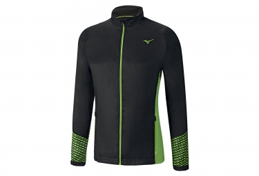 veste coupe vent deperlant mizuno breath thermo noir vert
