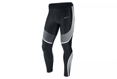 collant long homme nike power speed noir blanc