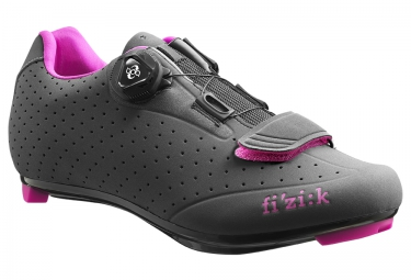 chaussures route femme fizik r5b donna anthracite dark grey rose