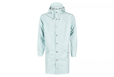 veste rains long jacket bleu