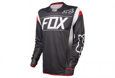 maillot manches longues fox flexair dh noir blanc