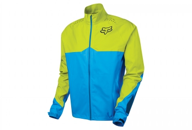 veste coupe vent impermeable fox downpour light bleu jaune