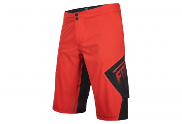 short de sport fox explore rouge noir