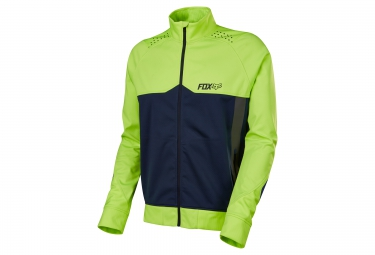 veste coupe vent deperlant fox bionic light jaune bleu