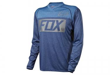 maillot manches longues fox indicator bleu